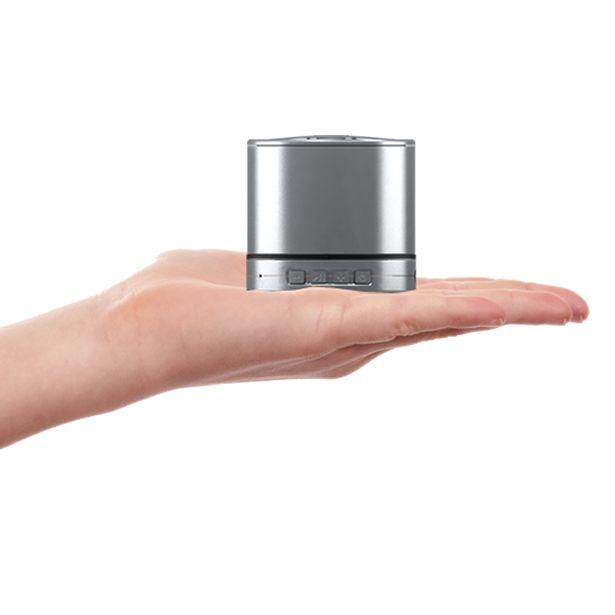 Caixa de som portátil e sem fio. Som de alta qualidade na palma da sua mão. Compre em www.orbiaudio.com.br