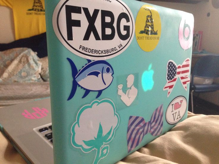 Preppy Laptop Stickers Southern Tide Vineyard Vines