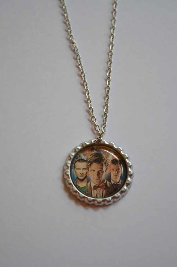 Doctor Who Bottle Cap Necklace / Christopher by SpearCraft on Etsy, $5.00