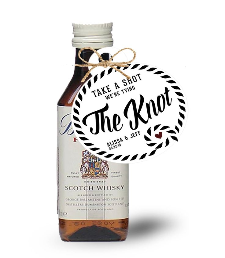 Take a Shot We're Tying The Knot Tag/ Wedding Tag/ Drink Tags/ Tying the Knot Labels/ Mini Bottle Tags/ Wedding Favors/ Wedding Favor Tags by TieTheKnotShoppe on Etsy https://www.etsy.com/ca/listing/543890433/take-a-shot-were-tying-the-knot-tag
