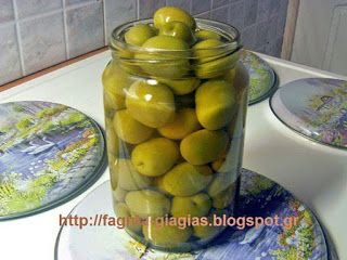 Ελιές πράσινες αχάραχτες - Τα φαγητά της γιαγιάς