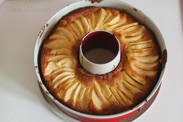 Ciambella di mele allo yogurt senza burro ricetta dolce colazione merenda bambini Statusmamma BlogGz Giallozafferano Statusmamma facile economica