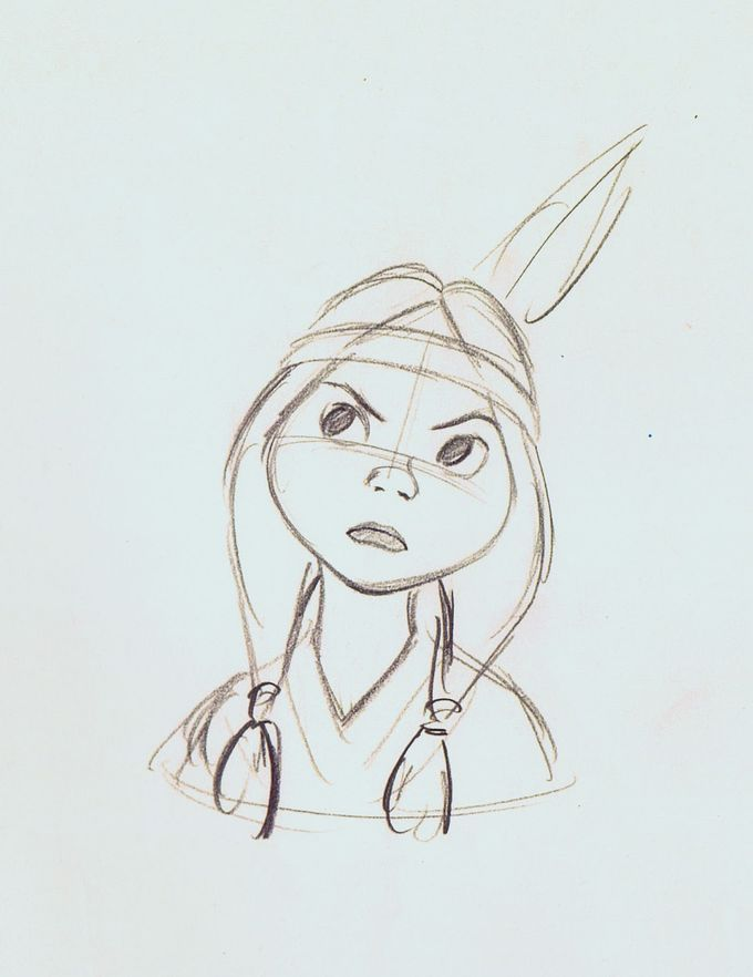 Tiger Lily - Art of Walt Disney Animation Studios © . Character Sketch / Drawing .