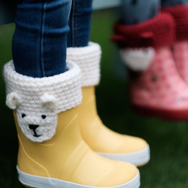 Arm & Leg Warmers – Handmade Animal Character Boot Cuffs – a unique product by ekawear on DaWanda
