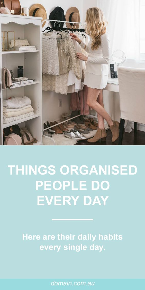 Five things that professional organisers do every day