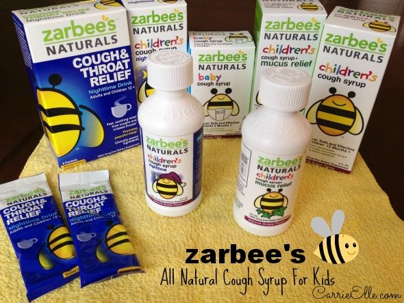 Calm Your Child's Cough with Zarbee's Naturals Cough Medicine (they have a cough syrup safe for infants as young as two-months-old)