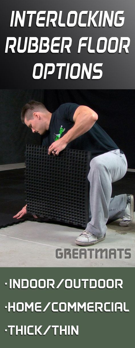 Greatmats offers one of the largest selections of interlocking rubber floor tiles anywhere. Take a look for yourself!