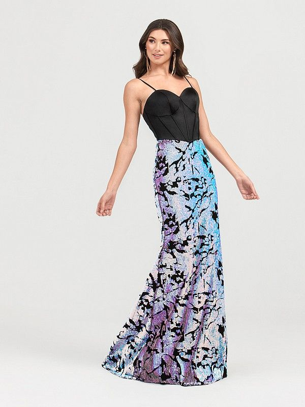 7dc0c14a0f Val Stefani Iridescent Sequin and Velvet Prom Gown Style 3421RA