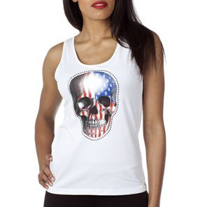 Unkut Femme - Débardeur Skull Blanc