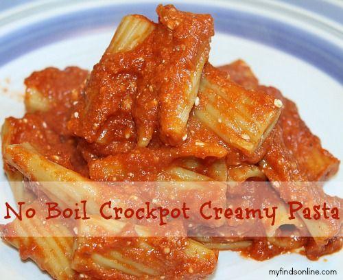 No Boil Crockpot Creamy Pasta.  Was perfect for a potluck lunch.  Will make again.  Topped with mozzarella.