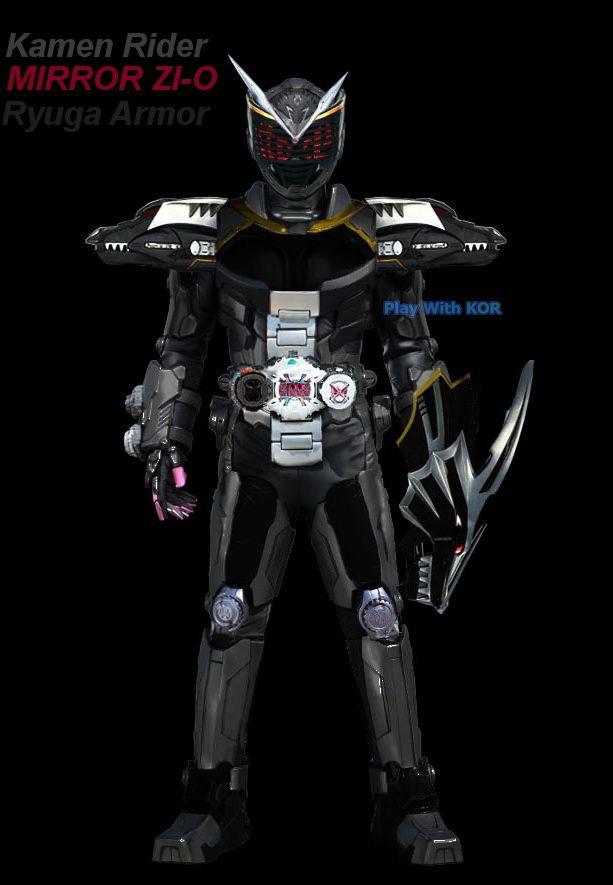 Kamen Rider Mirror Zi O Ryuga Armor Dark Ver By Https Www Deviantart Com Playwithkor On Deviantart Kamen Rider Faiz Kamen Rider Rider