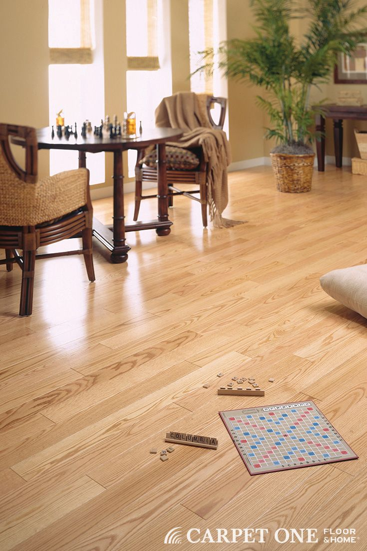 Natural Oak hardwood is classic and great for any décor