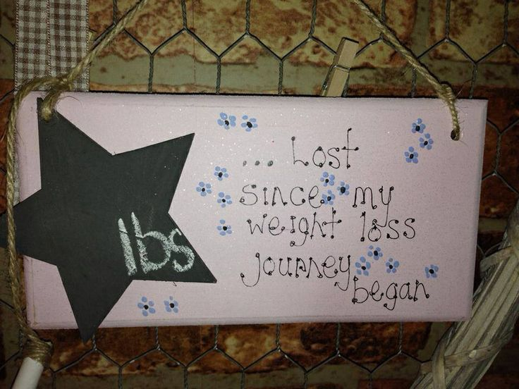 Weight loss plaques available to order
