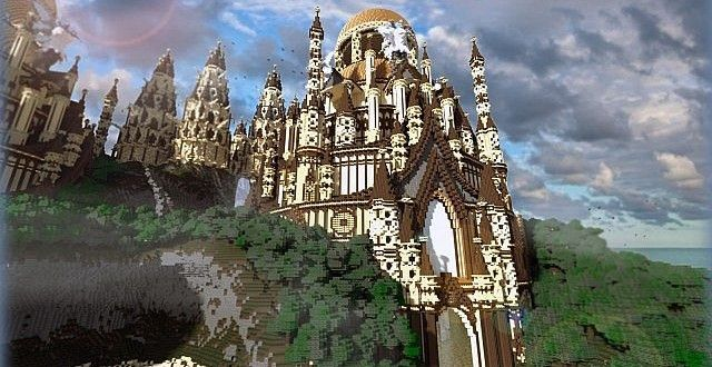 Tropical Sandstone Castle | Minecraft Building Inc