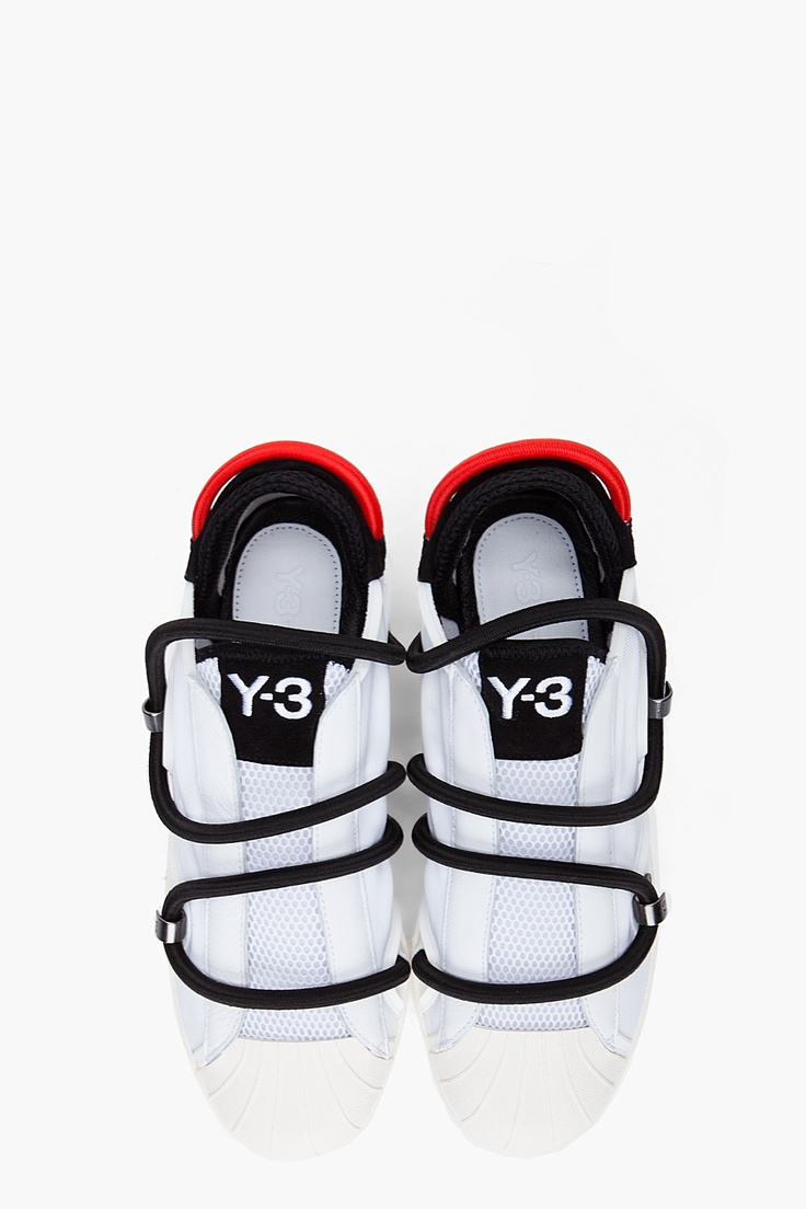 Y3 White Cord Lace Sneakers