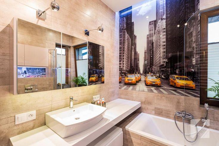 Łazienka z nowojorskim motywem. Jak się podoba? #meble #wnętrza #NY
