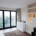 bi fold glass doors in a loft conversion NW london
