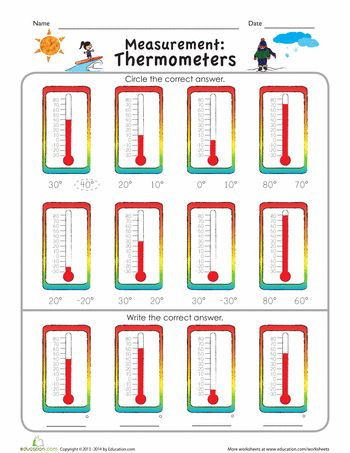 measurement mania thermometers learn weather 2nd grade math worksheets measurement. Black Bedroom Furniture Sets. Home Design Ideas