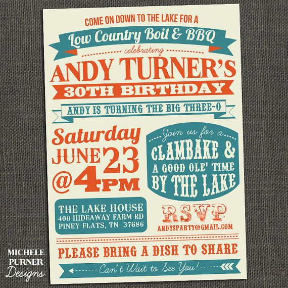 awesome adult birthday invite!