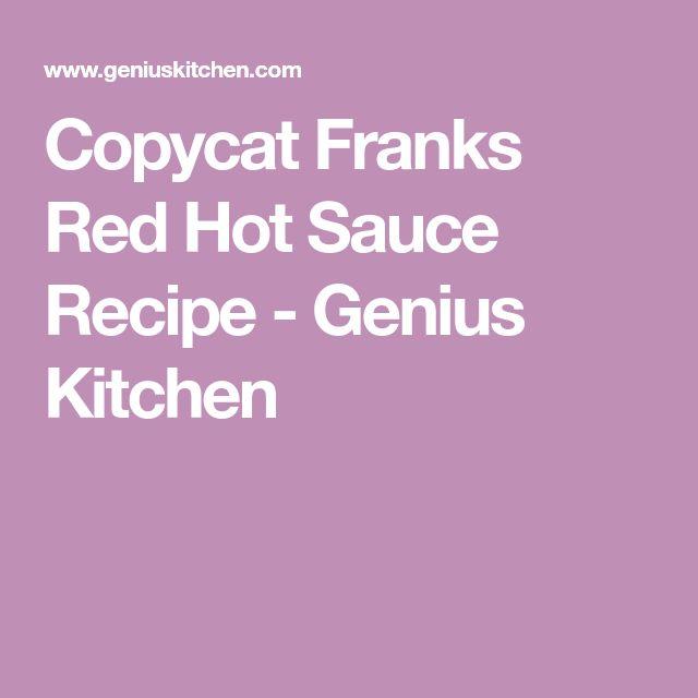 Copycat Franks Red Hot Sauce Recipe - Genius Kitchen