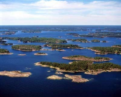 Finnish archipelago from the air
