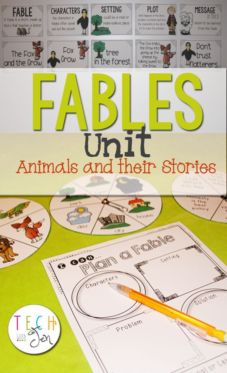 Need great activities, graphic organizers and ideas for teaching fables in the classroom? This fun and engaging unit will be a perfect addition to any teaching toolbox. $