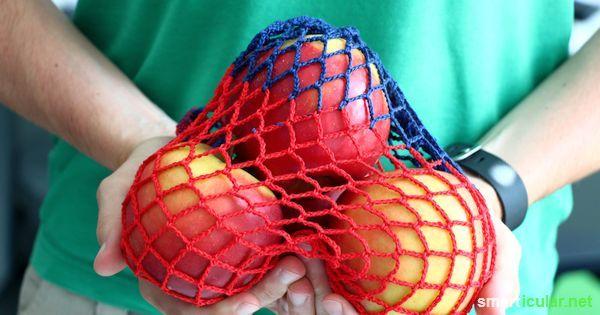 Einkaufsnetz häkeln - selbstgemachte Alternative zur Plastiktüte