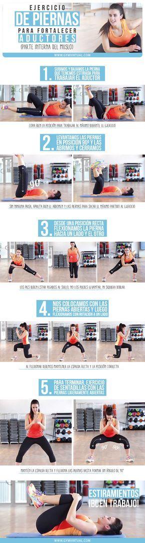 Rutina de piernas paso a paso para fortalecer los aductores. Esta rutina os ayudará a tonificar la musculatura interna de las piernas. Recordad que cuanto más tonificado tengamos el cuerpo, menos tendremos y más quemaremos. Podéis hacer esta rutina y después realizar ejercicio cardiovascular, mínimo 30 minutos.