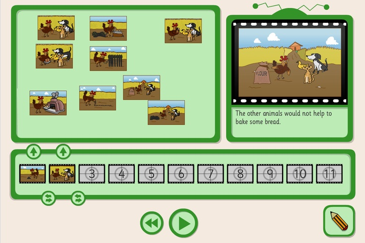 A sequencing activity, from TES iboard, with the chance to retell the story in your own words.