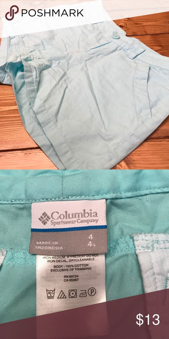 Light Blue Shorts Nice Light Blue Shorts!! 4 inches Columbia Shorts Cargos