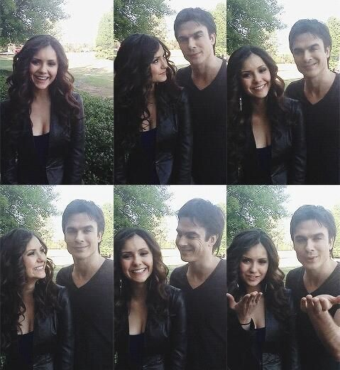 delena when they were in love - I wonder how much better the series would be if they were actually still a couple