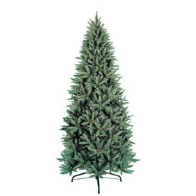 Holiday Living 9-ft Indoor Fir Artificial Christmas Tree - love that it isn't pre-lit and that it's adjustable height - Lowe's