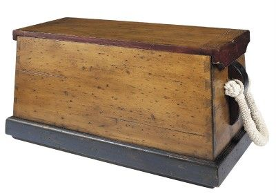 wood nautical toy chest | Nautical Sailor's Sea Chest Wood Ship's Trunk Toy Box