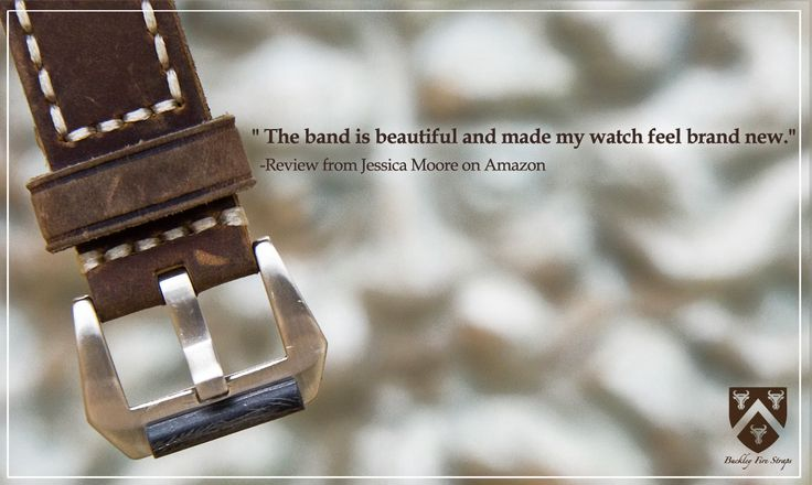 """""""The band is beautiful and made my watch feel brand new."""" Review from Jessica Moore on Amazon⌚"""