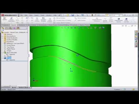 Learn how to create a barrel cam using the wrap feature