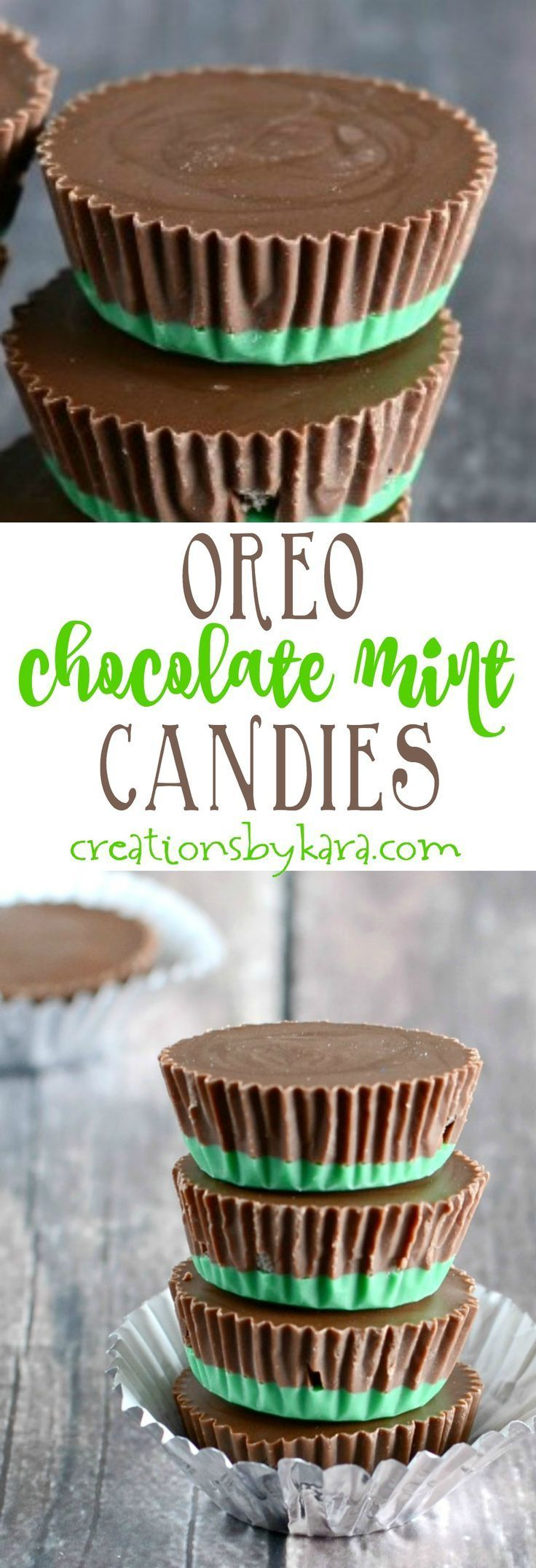 With just four ingredients, these Chocolate Mint Candies are a cinch to whip up. A perfect candy recipe for Christmas gift giving! #Christmascandy #chocolatemint