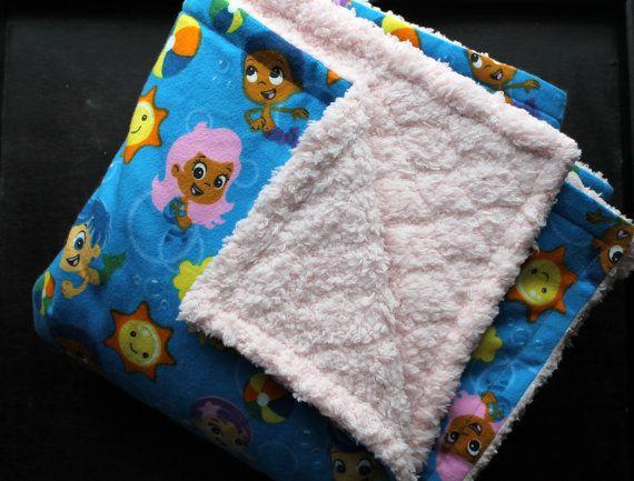 bubble guppies blanket - choose colors  u0026 size- baby blanket - big kid blanket