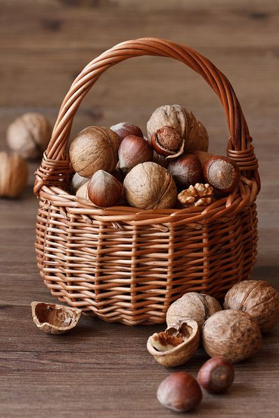 A basket of nuts. by ZakariaSnow on Flickr.