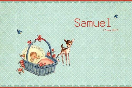 Geboortekaartje retro jongen of meisje - superlief - kindje met hertje - Pimpelpluis  https://www.facebook.com/pages/Pimpelpluis/188675421305550?ref=hl(# vintage - retro - nostalgie - nostaligisch - vogel - vogeltje - kindje - dieren - baby - hert - hertje - mandje - lief - schattig - origineel)