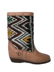 Atlas boots with diamond kilim
