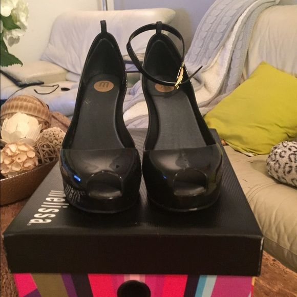 Jelly shoes Mellisa black jelly shoes Mellisa Shoes Wedges
