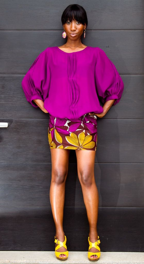Ankara/African print skirt