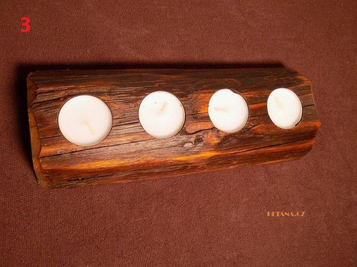 originální dárek, bytový doplněk, dřevěný svícen,staré trámy, adventní svícen, svícen ruční výroba - Inspirace pro Vaše originální dárky