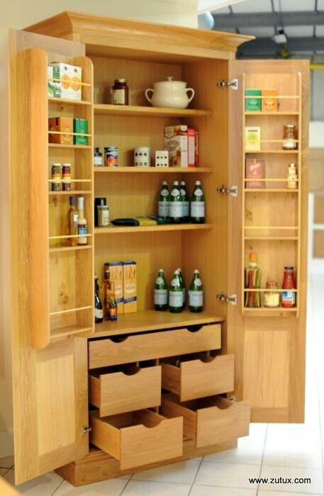free standing kitchen larder cupboards cabinets set cupboard | organizing for a better life pinterest ...