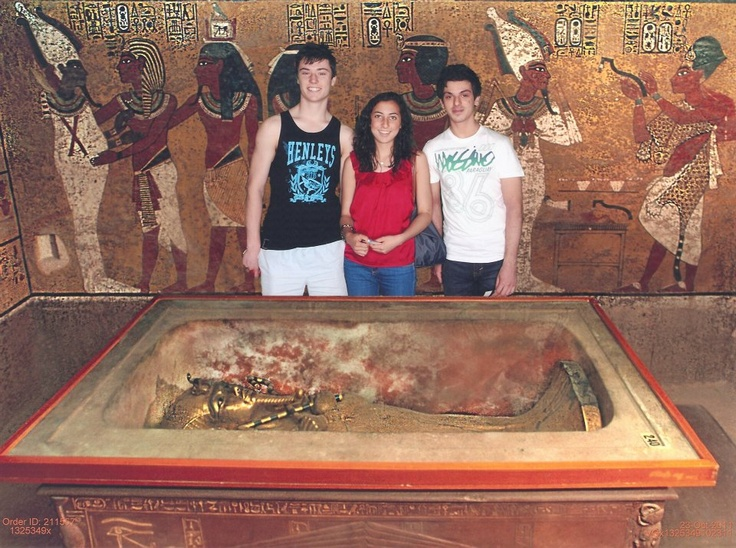 Egyptian Exhibition- Melbourne Museum. WIth Eaden and Conrad. Oh and some Egyptian guy