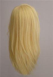 Gerçek İnsan Saçı Natürel Düz El Yapımı Peruk ( Sarı )