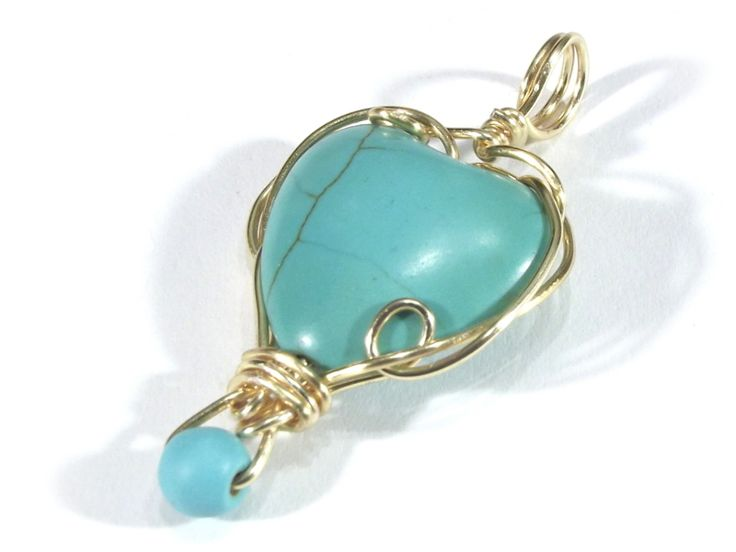 Turquoise heart pendant from betulek by DaWanda.com