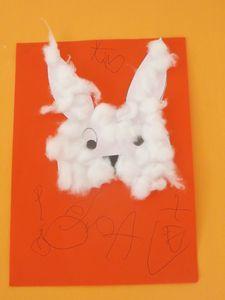 Petits lapins de Pâques (collage)
