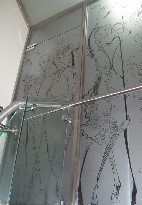 My sketches on Glass Seperation Doors