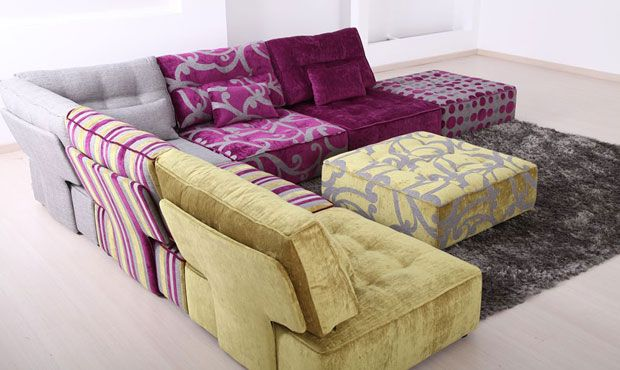 Alice Modular Fabric Sofa - High Quality, Hand Crafted Leather Sofas: Darlings of Chelsea